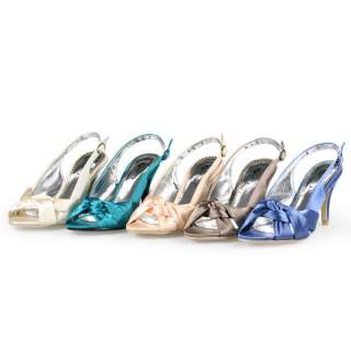 NEW womens satin wedding party heels shoes size US 6 10