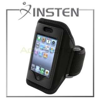 INSTEN Black Sport ArmBand Case for iPhone 4 4S 4G 4th Gen