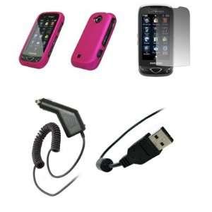 Samsung Reality U820   Premium Hot Pink Rubberized Snap On