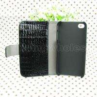 Black Wallet Leather Case Skin Cover Pouch +Screen Protector For