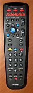 UNIVERSAL ADELPHIA UG3EXP A TV, CABLE, VCR REMOTE