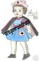 Red Cross Nurse Cloth Doll & Uniform Pattern Vintage