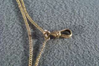 WOW ANTIQUE GOLD FILL WATCH CHAIN NECKLACE CHARM SLIDE
