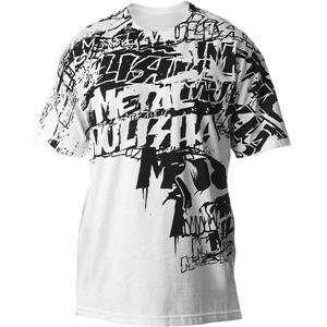 Metal Mulisha Cyclone T Shirt   2X Large/White Automotive
