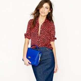 Silk boy shirt in heart throb   blouses   Womens shirts & tops   J