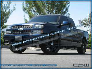 CHEVROLET TAHOE 24 RIMS TIRES WHEEL & TIRE PACKAGE BLACK SILVERADO
