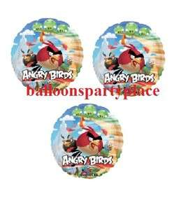 ANGRY BIRDS GAME PARTY supplies balloons 18 inch mylar decorations