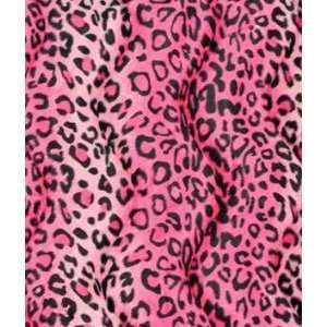 Pink Leopard Velboa Faux Fur Fabric: Arts, Crafts & Sewing