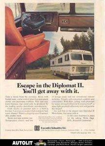 1975 Executive Diplomat II Motorhome RV Ad