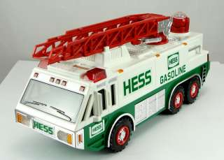 Toy Hess Vehicles 1989 White Aerial Ladder Fire Truck 1996 Emergency