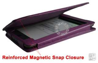Purple Leather Cover Case Pouch with LED light lighted for
