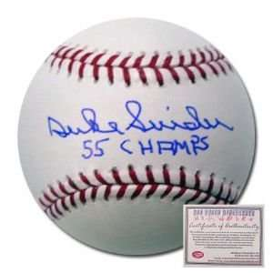 Brooklyn Dodgers Hand Signed Rawlings MLB Baseball with 55 Champs