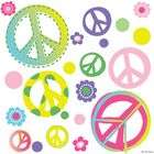 CC Peace Signs & Flowers Home/Dorm/Kids Room Wall Art Sticker Decals