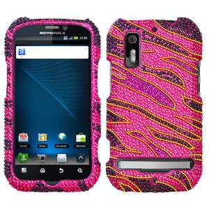 Rocker Rhinestone Bling Case Cover Motorola Electrify Photon 4G MB855