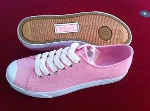 NIB Polo Ralph Lauren Womens Pink Canvas Lace up Shoes