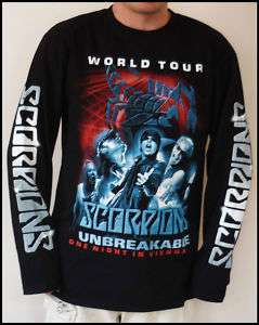 Scorpions World Tour Long Sleeve T Shirt L, XL