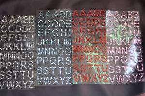 Inch Self Adhesive Rhinestone Alphabet Letters mr