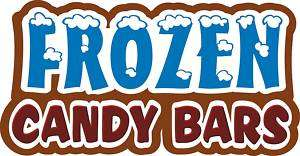 Frozen Candy Bars Concession Decal 14 Food Sign Menu