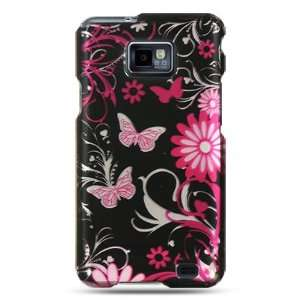 case with pink butterfly design for the Samsung Galaxy S II/SGH i777