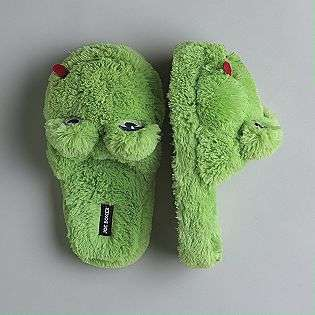 Womens Fuzzy Frog Slippers  Joe Boxer Shoes Womens Slippers