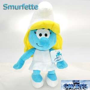 The Smurfs Soft Plush Toy Smurfette Girl Stuffed Animal New with Tag 9