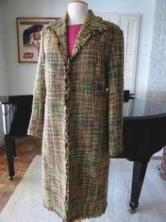 RENA LANGE ROSE SILK ASYMMETRICAL TIERED DRESS~FR 40