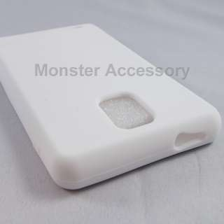 White Soft Silicone Gel Cover Case Samsung Infuse 4G