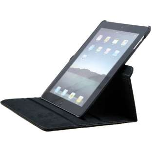 360 Rotating Magnetic Leather Case Smart Cover with swivel Stand Black