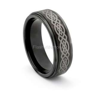 Tungsten Gold LOTR Wedding Band Ring One Size 7 14