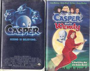 Casper & Casper Meets Wendy   2 VHS Family Tapes