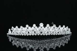 Bridal Rhinestone Crystal Wedding Tiara Hair Comb 7559