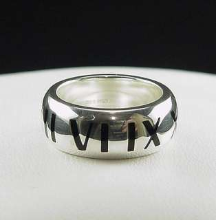 Incredible Estate Tiffany & Co Black Enamel Wide Atlas Ring Size 5.5