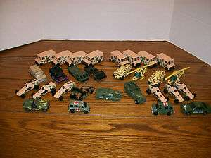 29 Various Military Diecasts. Matchbox, Hot Wheels, etc. Tanks