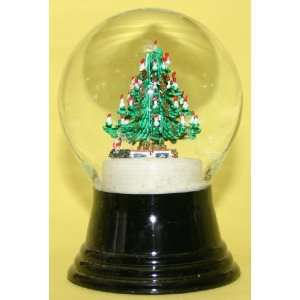 Decorated Tree with Train Holiday Snow Globe