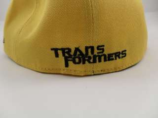 Transformers Autobot Fitted Yellow Cap Hat with Black Brim size 7 3/4