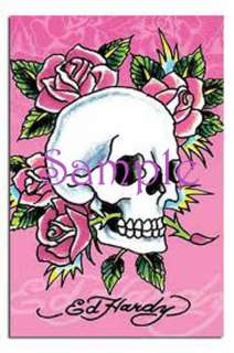 Ed Hardy Pink Skull Edible Cake Image Birthday Frosting