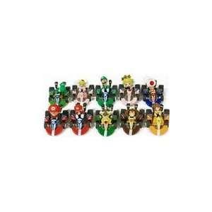 Super Mario Bros Mini Kart Checkered Figure Set Of 10