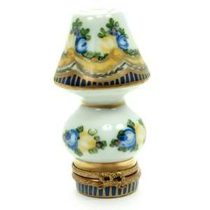 Limoges Porcelain Hand Painted Lamp Box