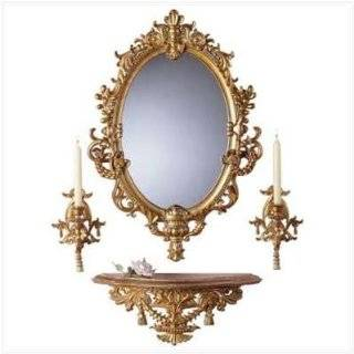 Entryway wooden wall mirror shelf and coat rack black 35 new for Baroque mirror canada