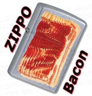 Zippo Bacon Street Chrome Windproof Lighter 28130 *NEW*