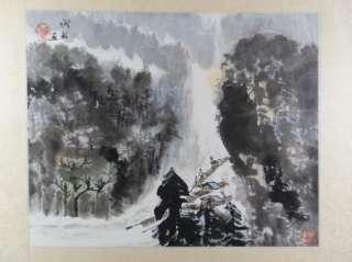 Vintage Original Landscape Painting Japan Japanese Art Signed Stamped