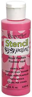 DecoArt Acrylic STENCIL PAINT 4 oz Jars ~ 13 Colors to Choose From
