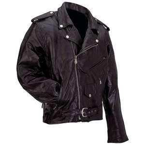 ™ Rock Design Genuine Buffalo Leather Motorcycle Jacket Size Medium