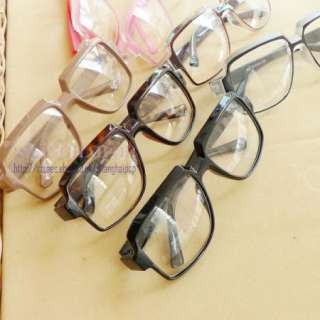 Lens Glasses Large Frame Party Fancy Dress Men Women Geek Rock