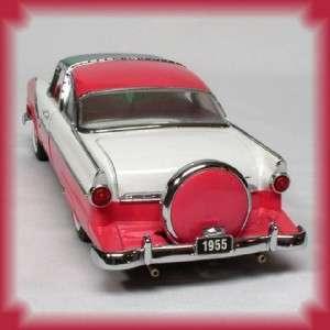 FRANKLIN MINT 1955 FORD FAIRLANE CROWN VICTORIA PINK & WHITE MIB