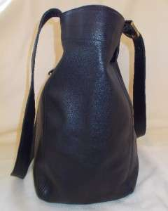 COACH black BUTTER SOFT leather VTG handbag Bucket X Large EUC tote