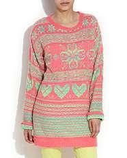 null (Multi Col) Wear What U Love Acid Snowflake Knit  257889799