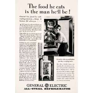 1929 Ad Antique General Electric Refrigerator Household Appliance