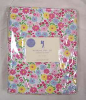NIP Pottery Barn Kids MADELINE Twin pink floral SHEETS