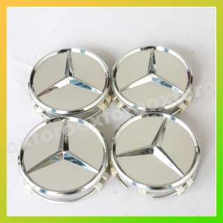 mercedes benz alloy wheel center caps x4 amg style standard 75mm brand